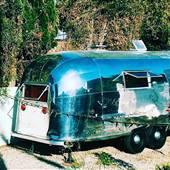 Retro Airstream Venice Garden Paradise