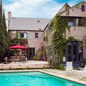 Magical 1920s Tuscan Villa with Iconic Pool & Artistic Decor, 4 bd/4 bath