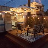 Renovated Vintage 31' Airstream with Yard And Patio