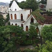 Rio de Janeiro gothic revival castle and traditional gardens